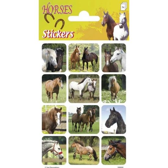 Dieren stickers paarden 3 st