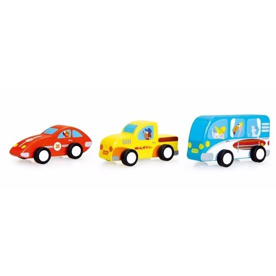 ScratcheuropeHouten speelgoed voertuigen 3 stuks