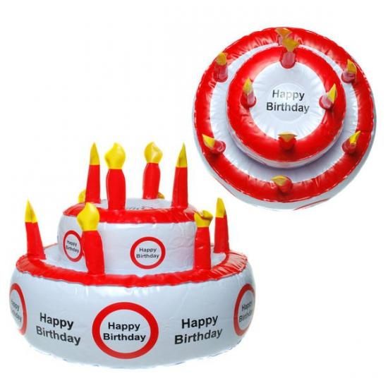Opblaas Taart Happy Birthday Met Verkeersbord Geboorte versiering kopen