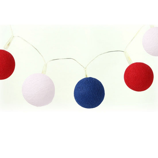 Woondecoratie lichtsnoer rood-wit-blauw